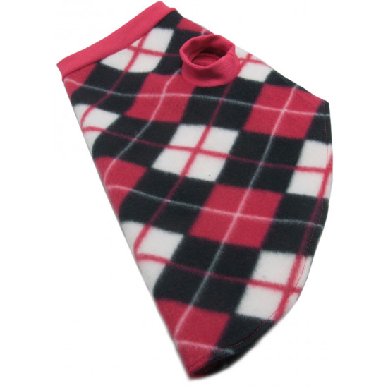 roupa-para-cachorro-xadrez-rosa-branco-preto-lado