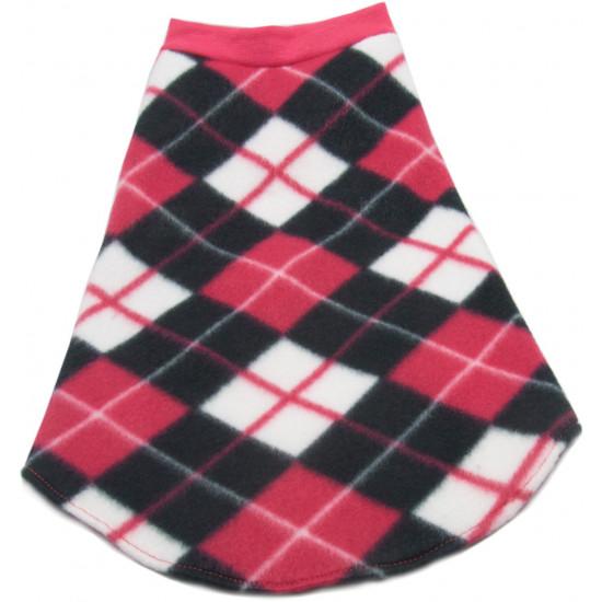 roupa-para-cachorro-xadrez-rosa-branco-preto-lombo
