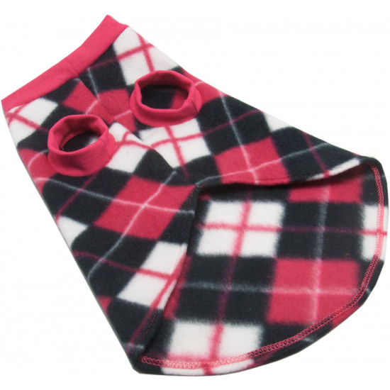 roupa-para-cachorro-xadrez-rosa-branco-preto-peito