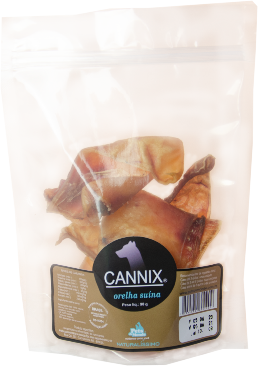 CANNIX ORELHA SUÍNA PACK 90 g