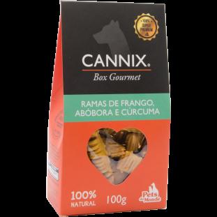 cannix gourmet abóbora, frango e curcuma
