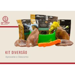 kit promocional petiscos naturais cannix pets du monde