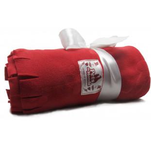 cobertor para cachorro feito em soft vermelho
